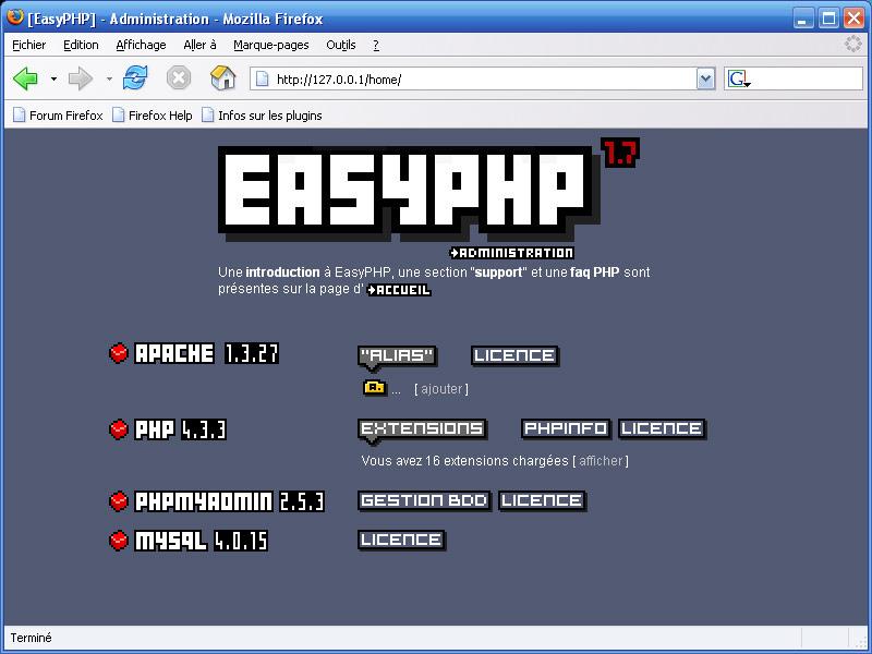 easyphp 1.8 francais