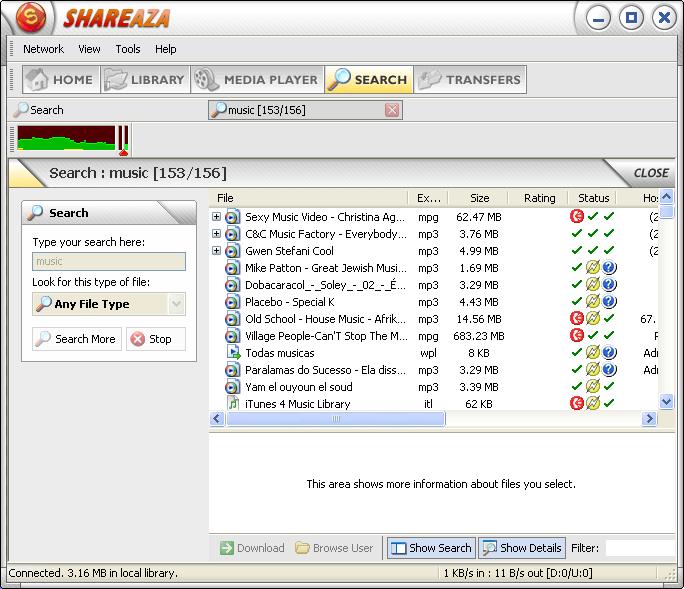 musique gratuitement sur shareaza